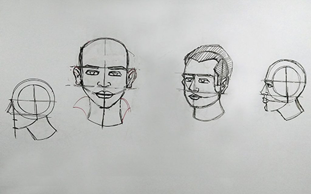 Anatomy Face Construction Drawing Workshop